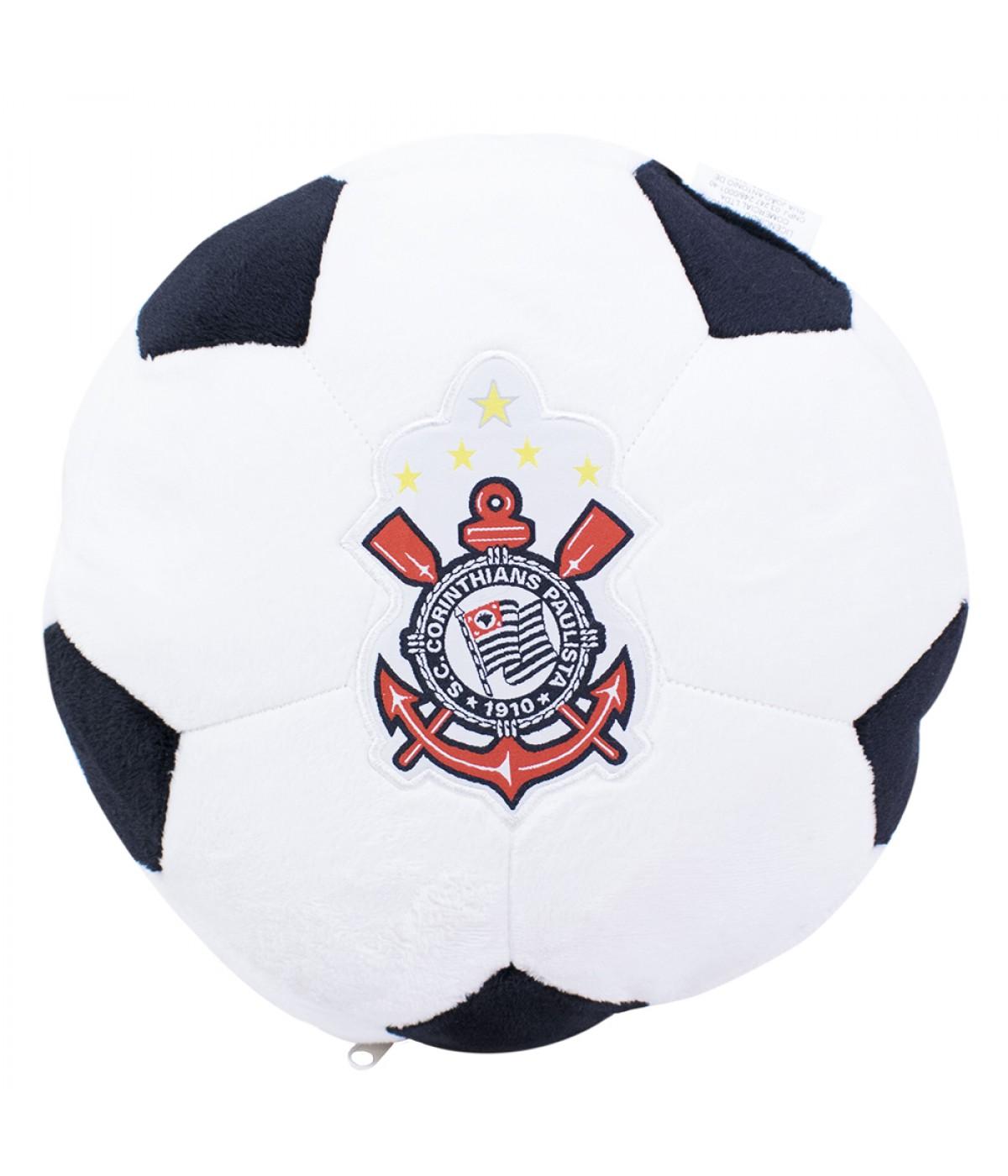Almofada Bola Pelúcia - Corinthians ... 66562a8cd2dca