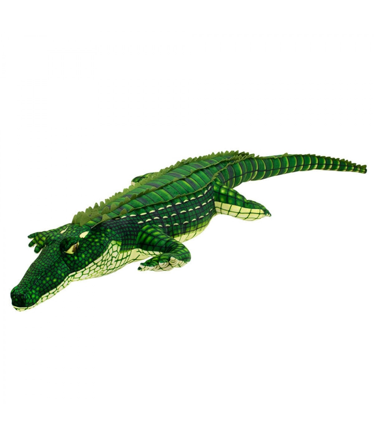 Crocodilo Verde Realista 127cm - Pelúcia
