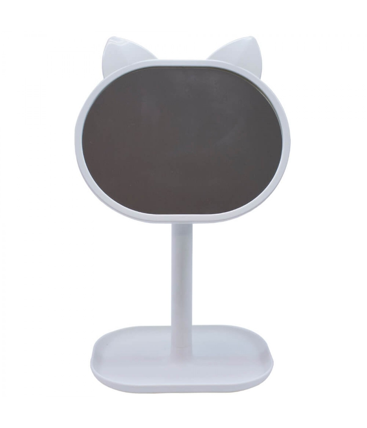 Espelho De Mesa Gato Branco 31cm