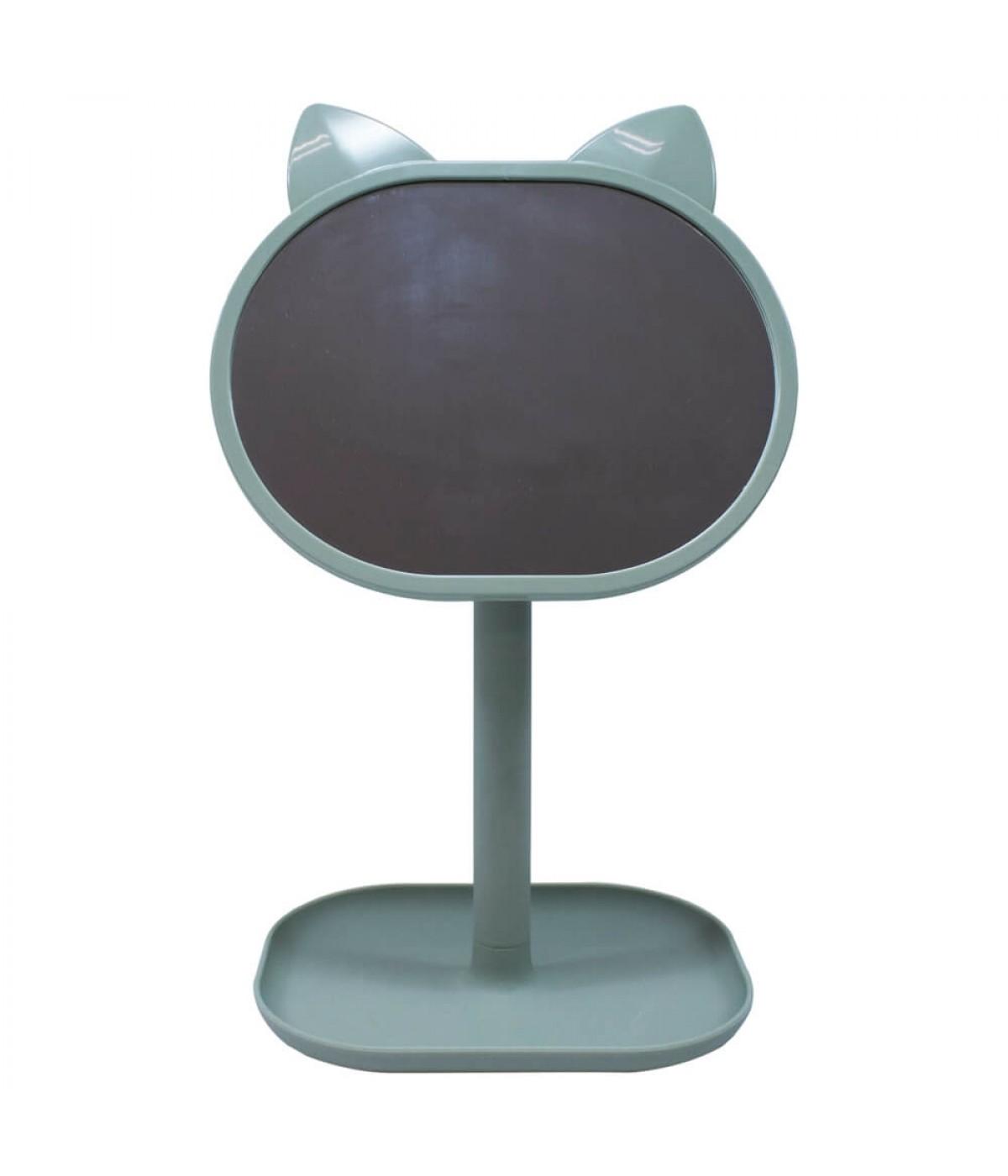 Espelho De Mesa Gato Verde 31cm