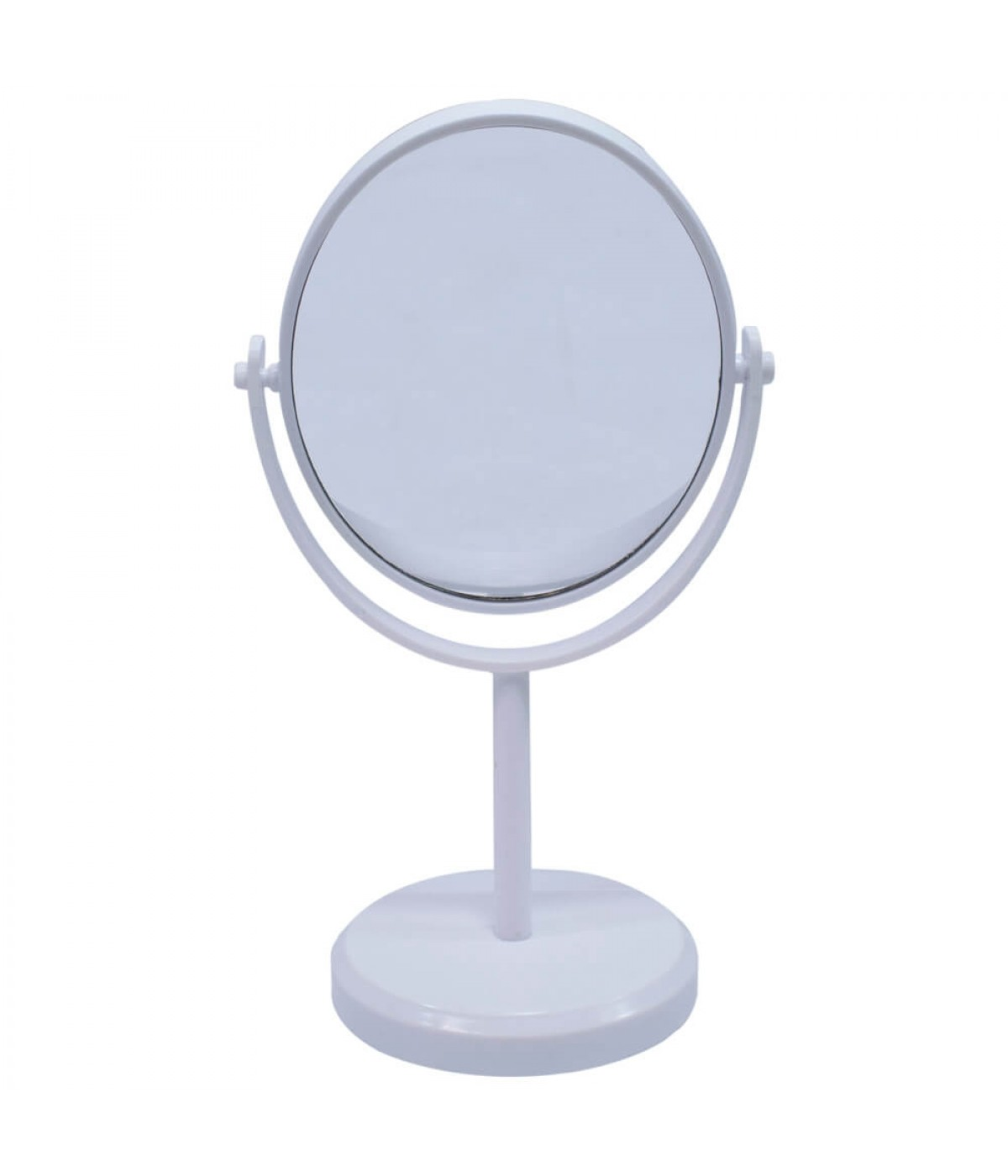 Espelho De Mesa Oval Branco Dupla Face 30cm
