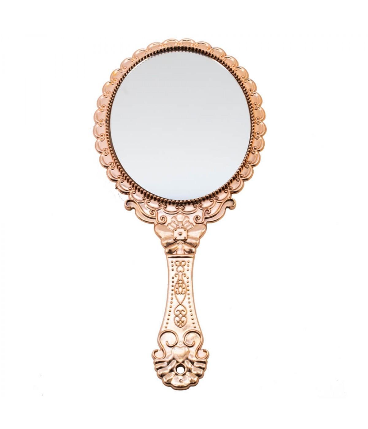 Espelho De Mão Rosé 25cm