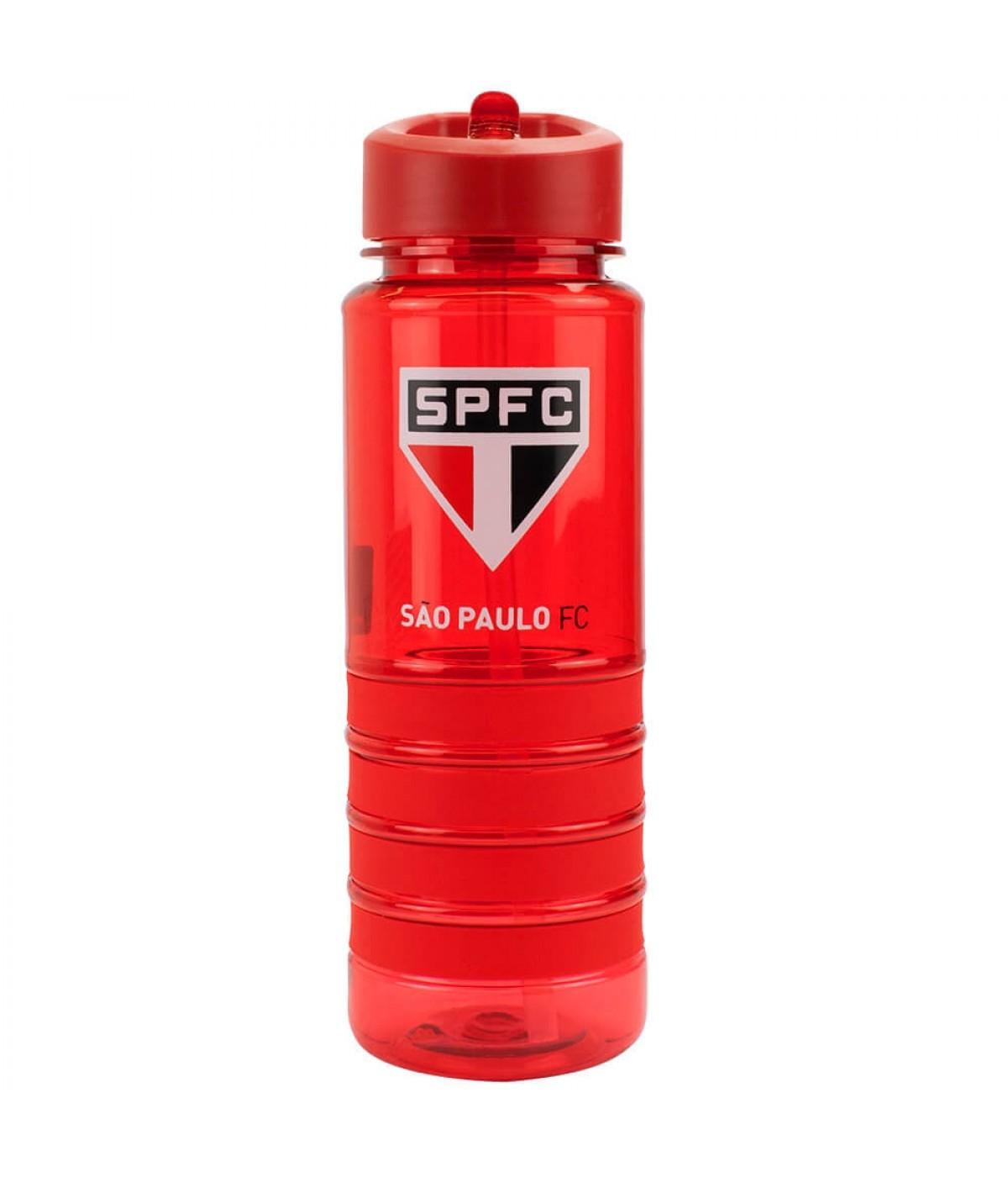 Garrafa Plástico Canudo Retrátil 700ml - SPFC