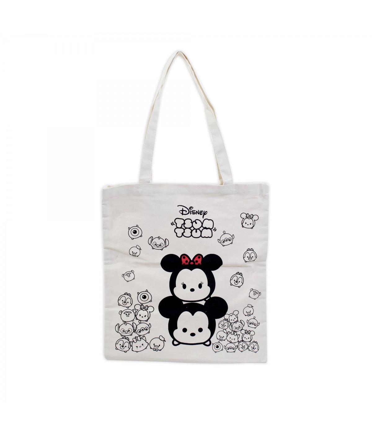 4072afc86d1634 Bolsa Tipo Saco Mickey & Minnie Tsum Tsum - Disney