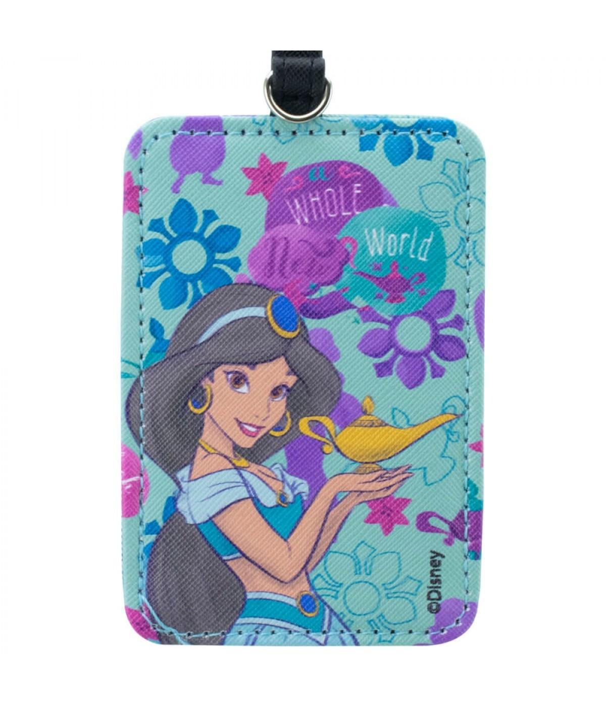 Etiqueta Para Bagagem Verde Aladdin Princesa Jasmine 10.5x7.5cm - Disney