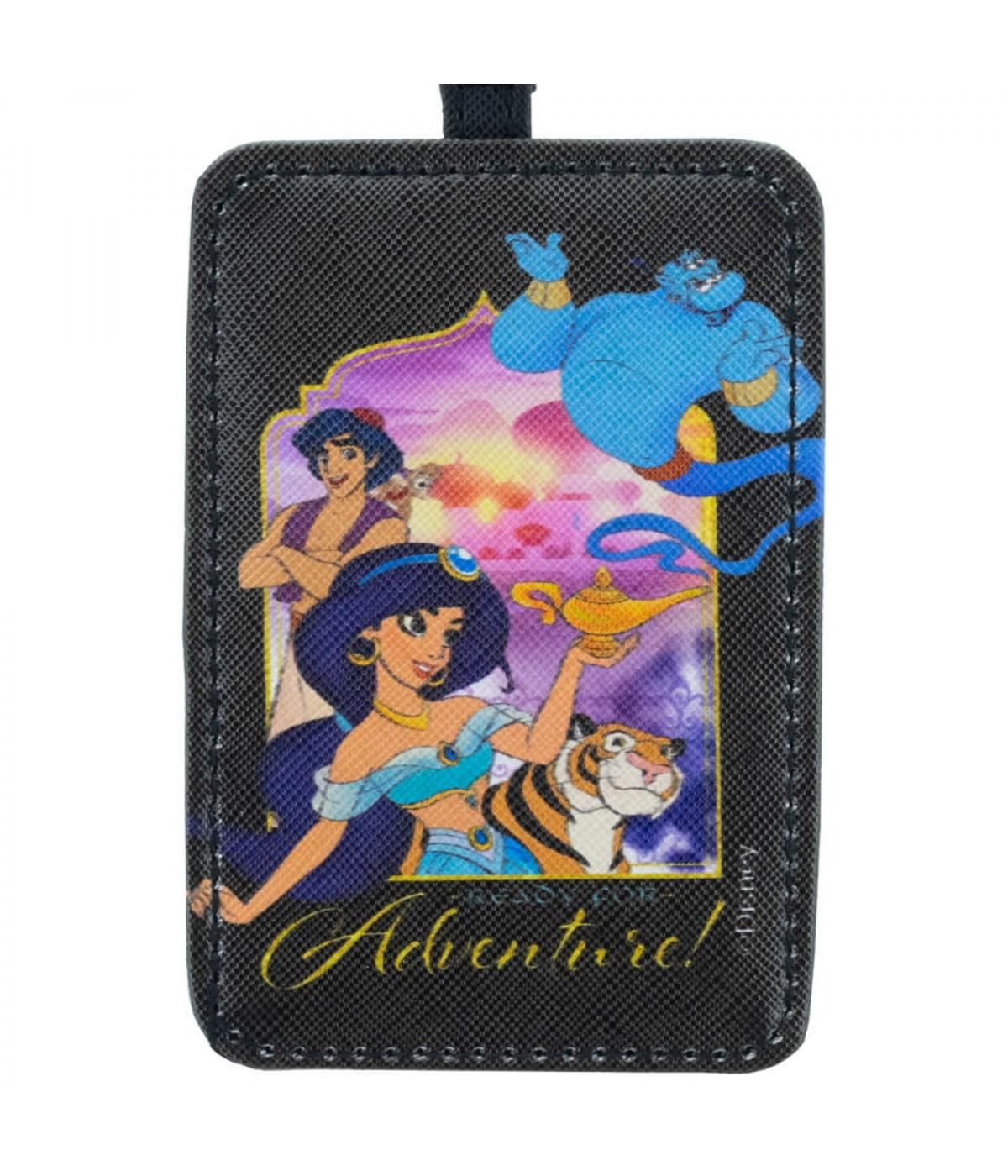 Etiqueta Para Bagagem Preta Aladdin Personagens 10.5x7.5cm - Disney