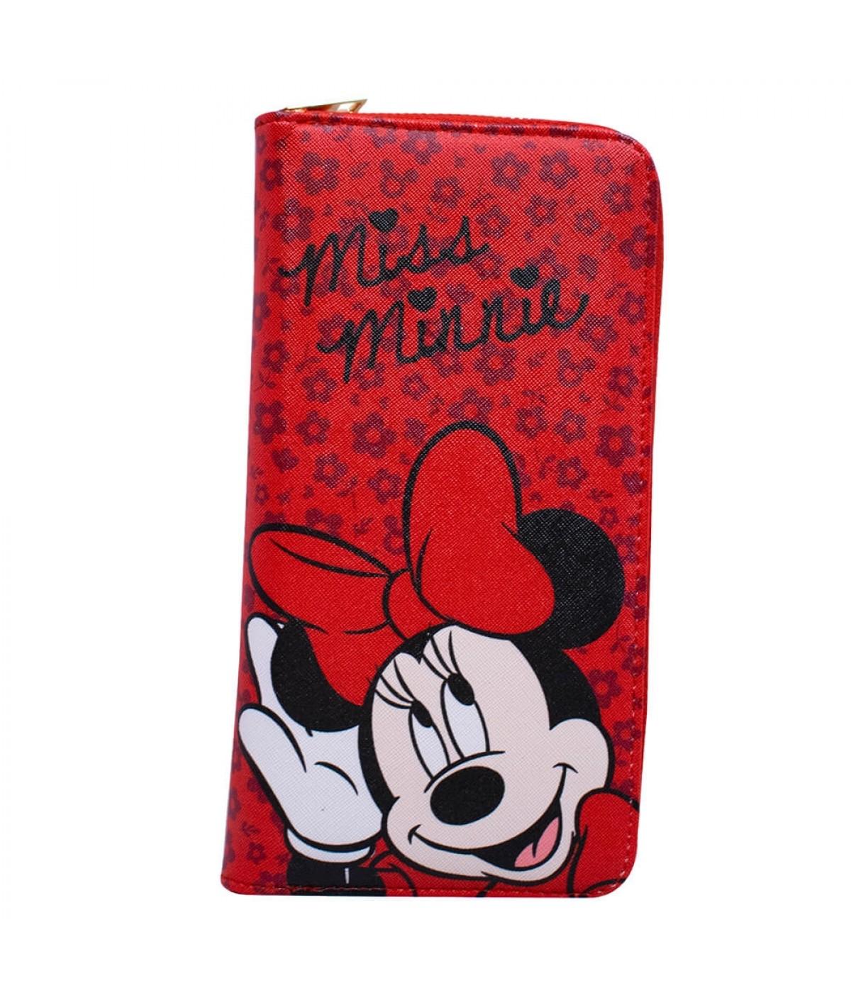 Carteira Vermelha Rosto Minnie 23x12cm Disney Dmg9050f Mk2 D