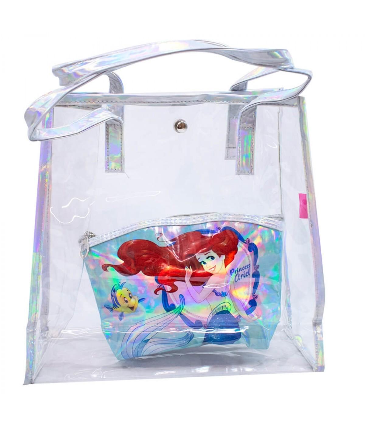 Jg. Bolsa Com Necessaire Princesa Ariel - Disney