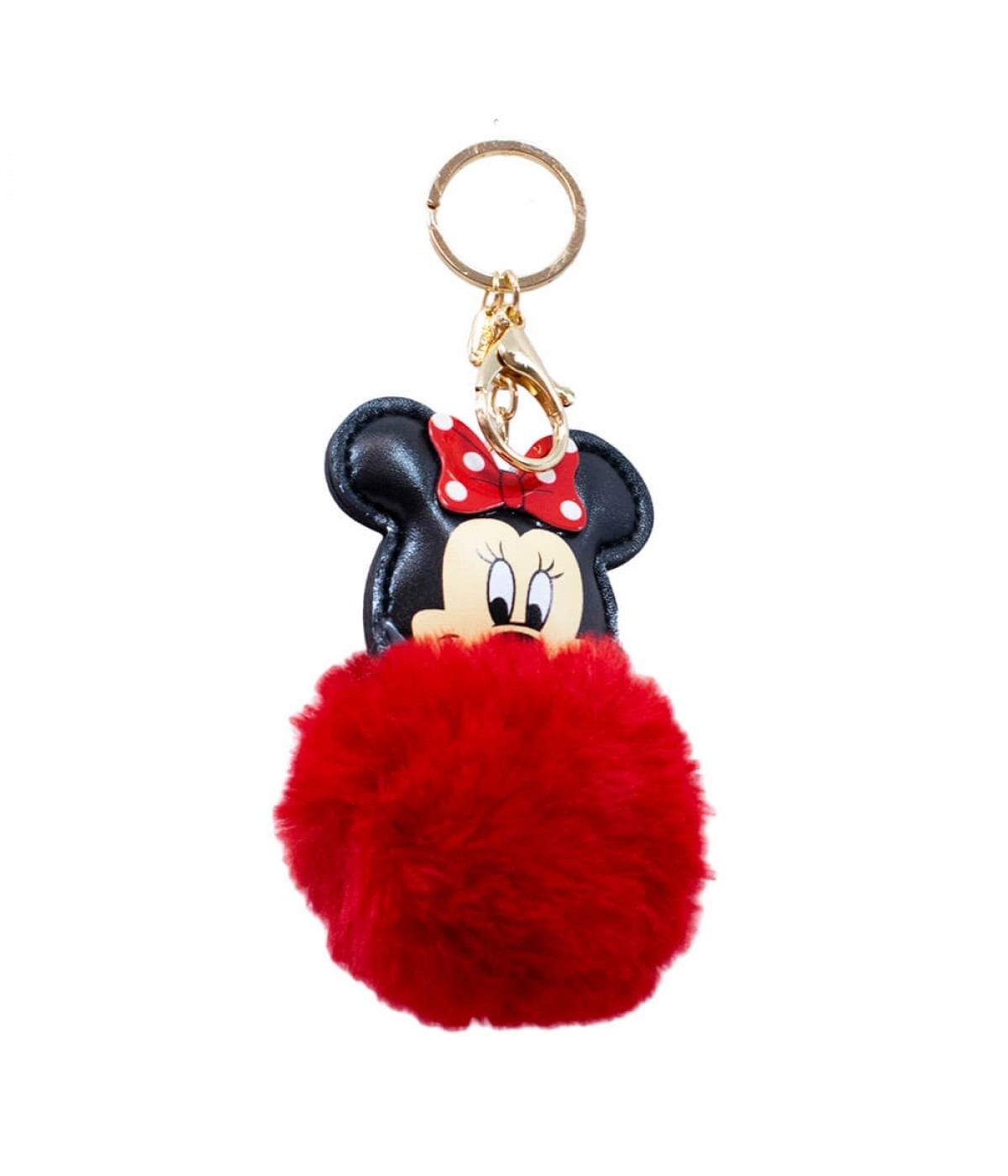 Chaveiro Minnie Pom Pom Vermelho 11.5cm - Disney