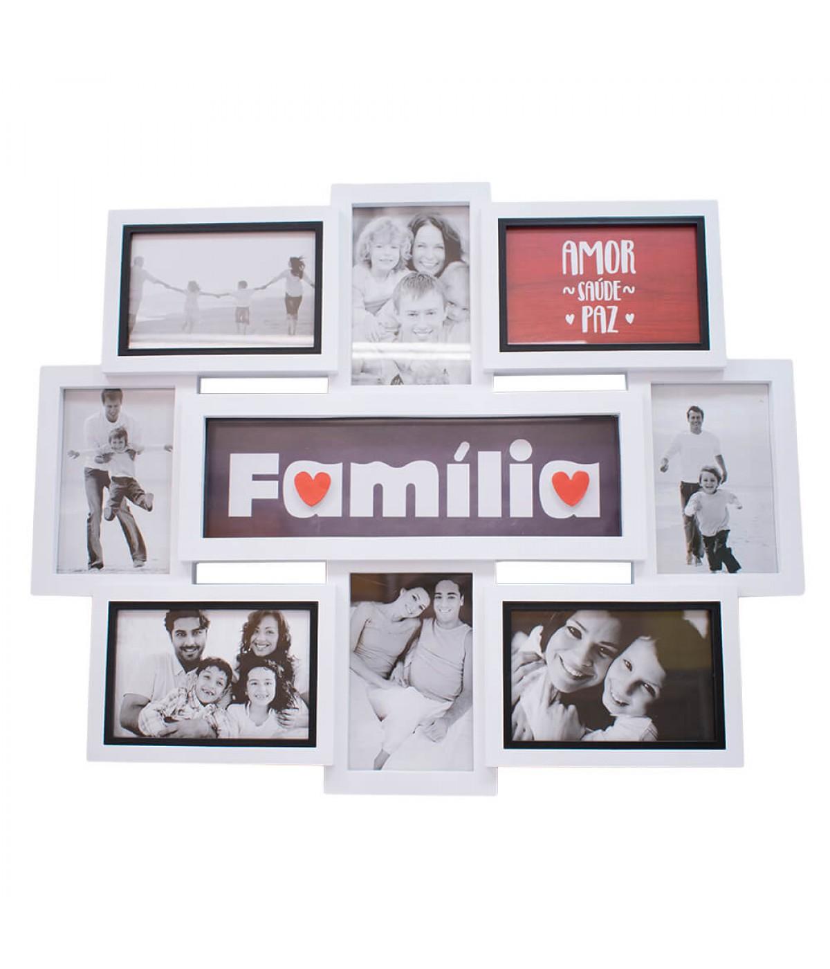 Multi Porta Retrato Família 8 Fotos 10X15cm