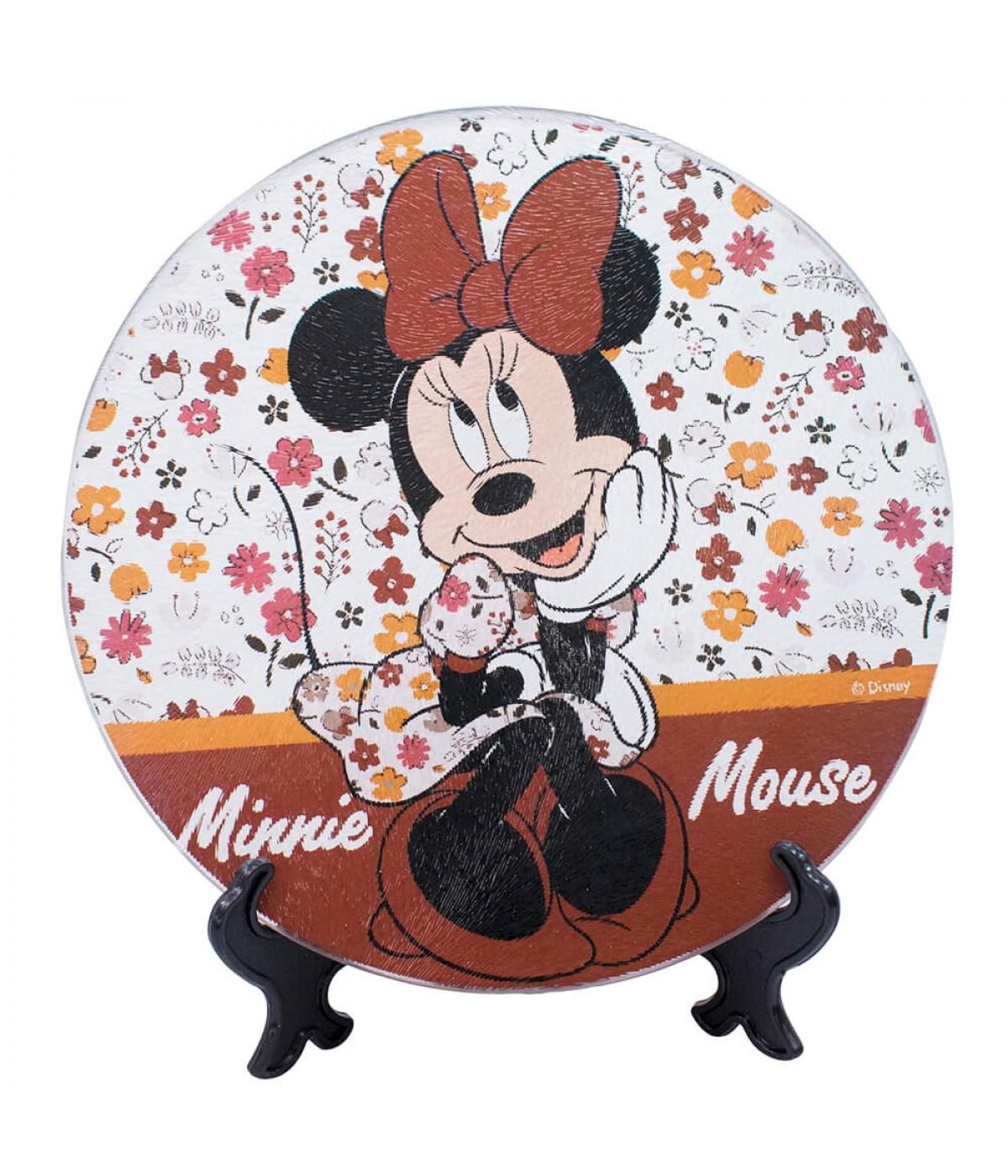 Suporte Panela Vidro Minnie 20x20cm - Disney