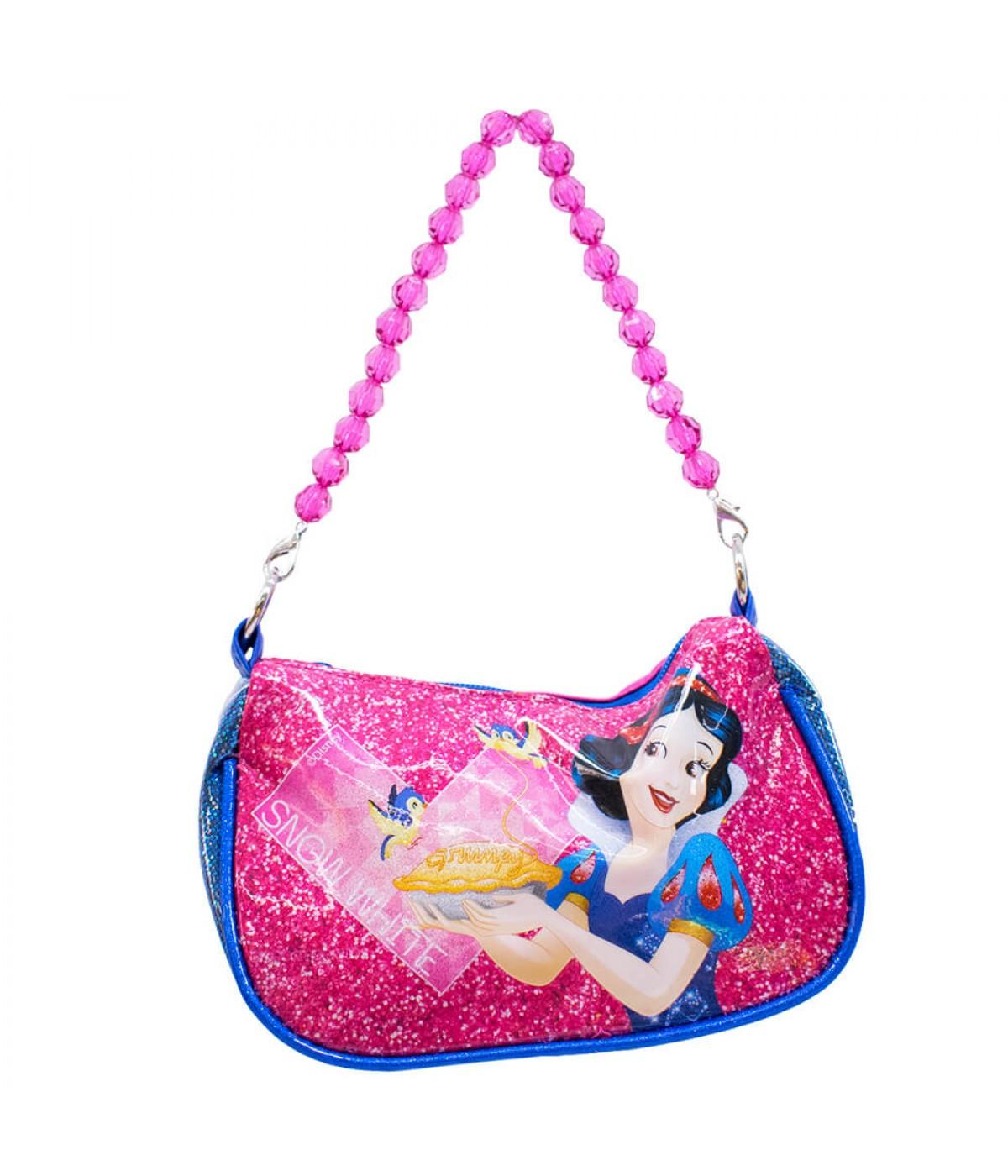 fa68997a7 Bolsa Azul Princesa Branca De Neve Com Alça De Miçanga - Disney ...