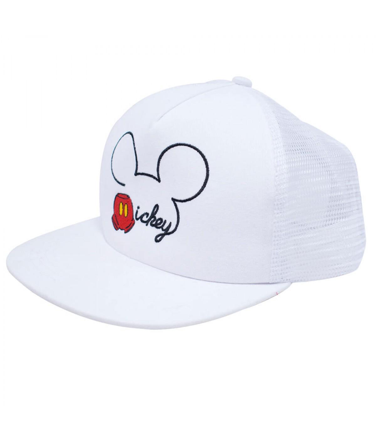c06212362227b Boné Branco Mickey Aba Reta - Disney ...