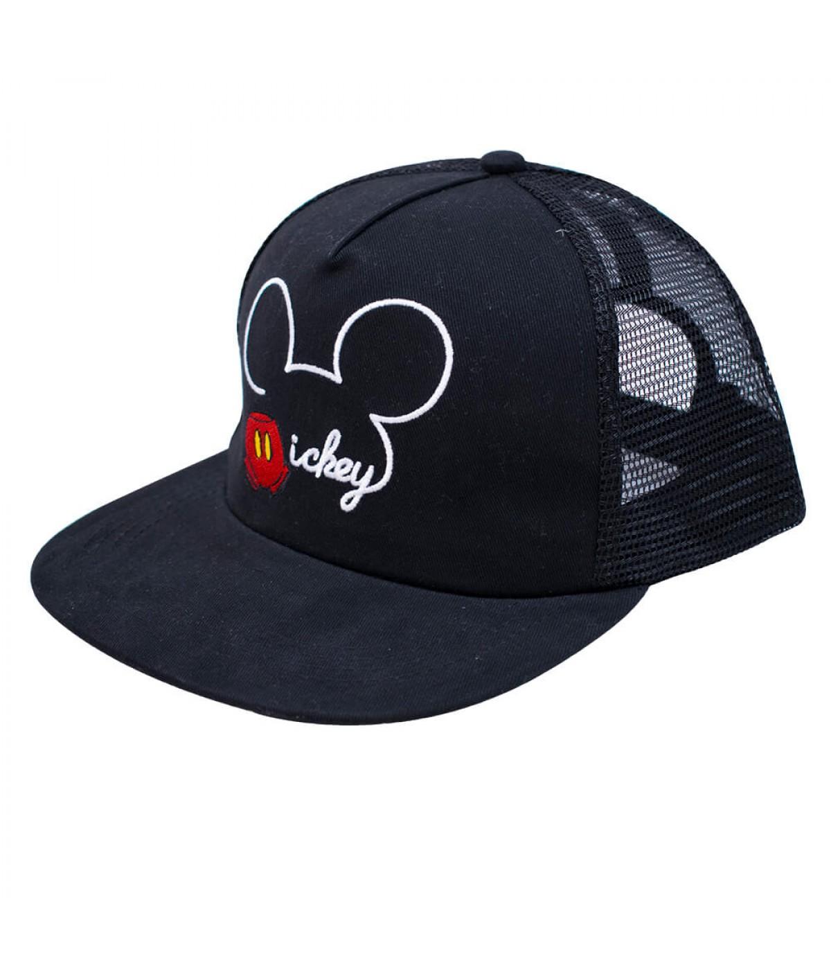 Boné Preto Mickey Aba Reta - Disney ... 2444ee4e4f8