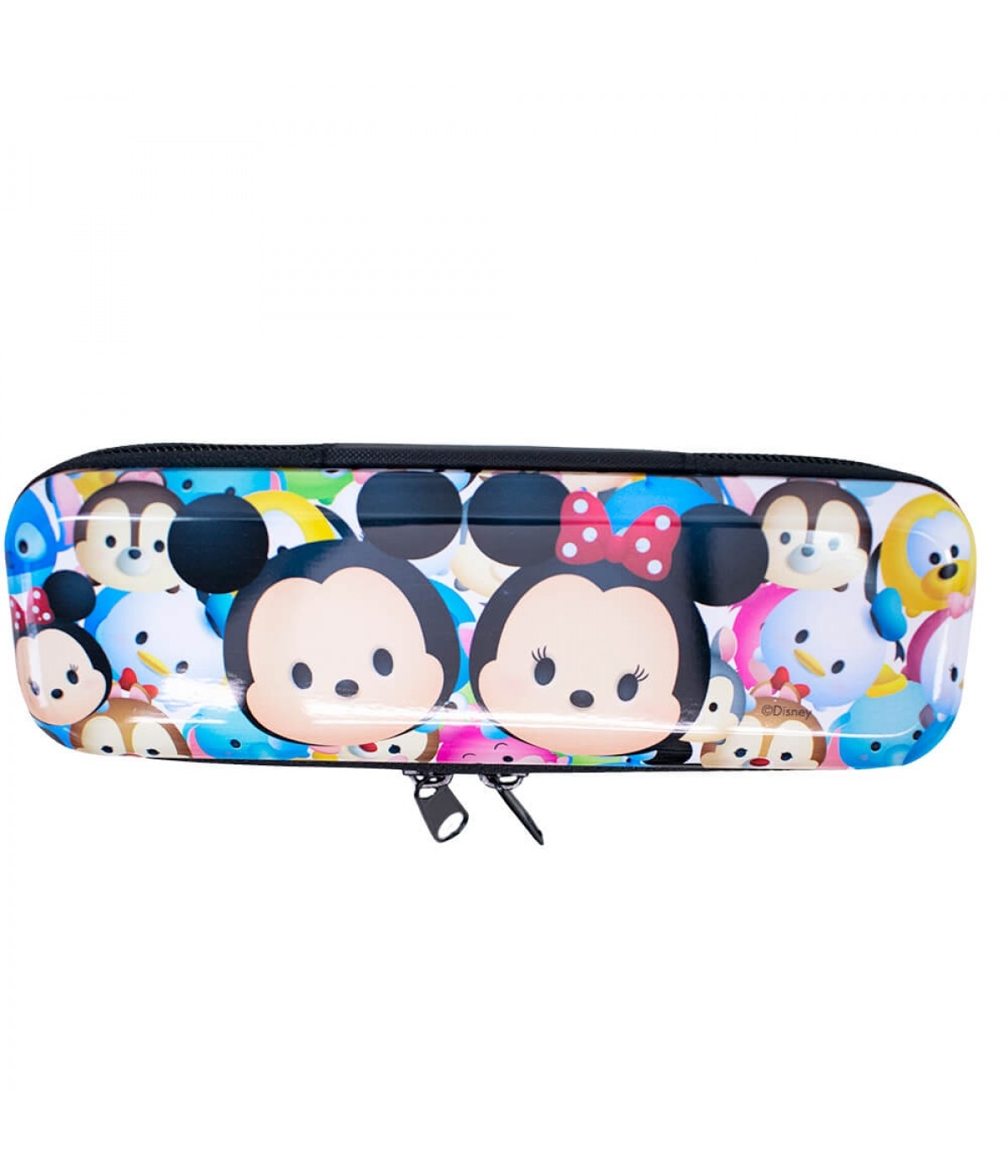 Estojo Metal Branco Mickey Minnie Tsum Tsum 6x3.5x19cm - Disney