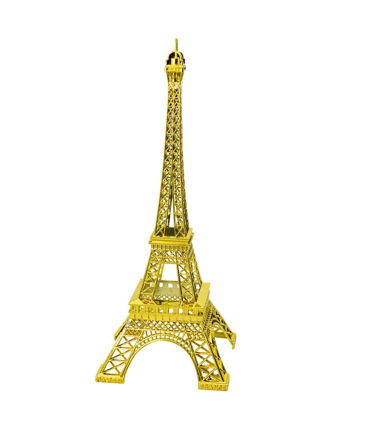Torre Eiffel Dourado Claro 25cm