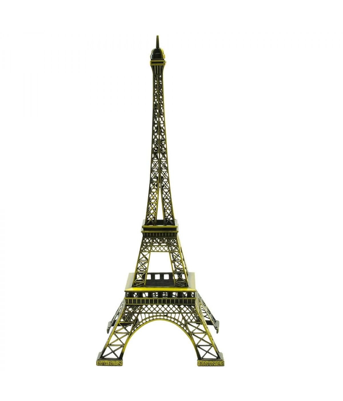 Torre Eiffel Dourado Escuro 38cm