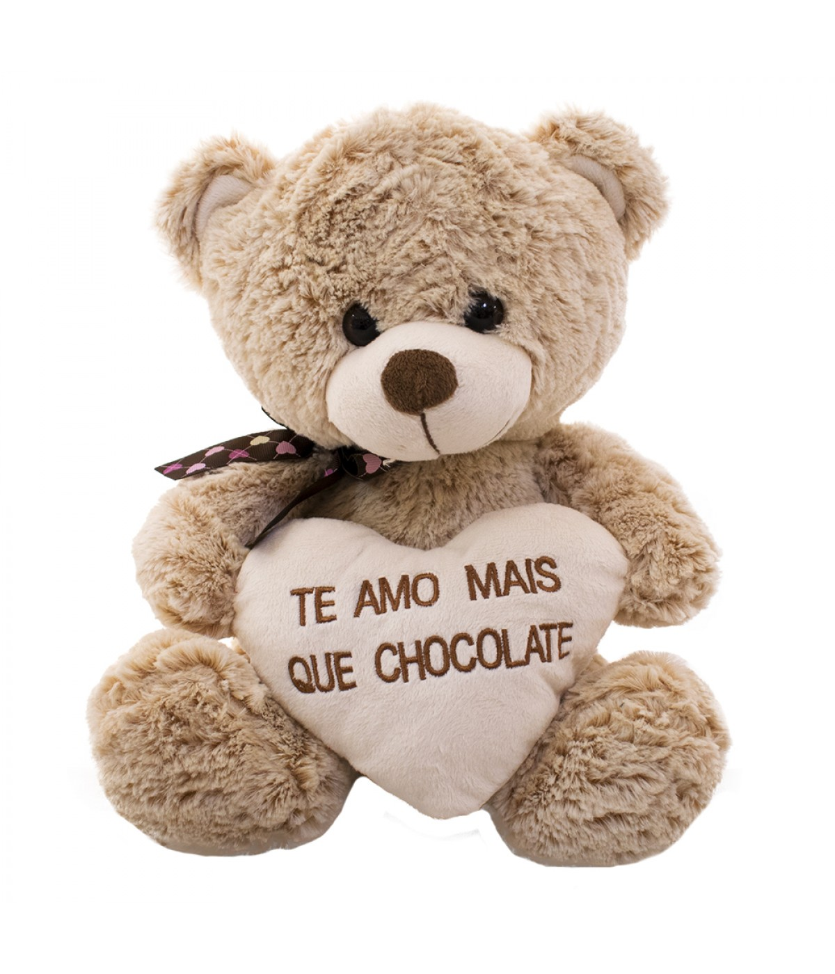 URSO MARROM CORACAO CHOCOLATE PELUCIA FM475831 | MINAS DE ...