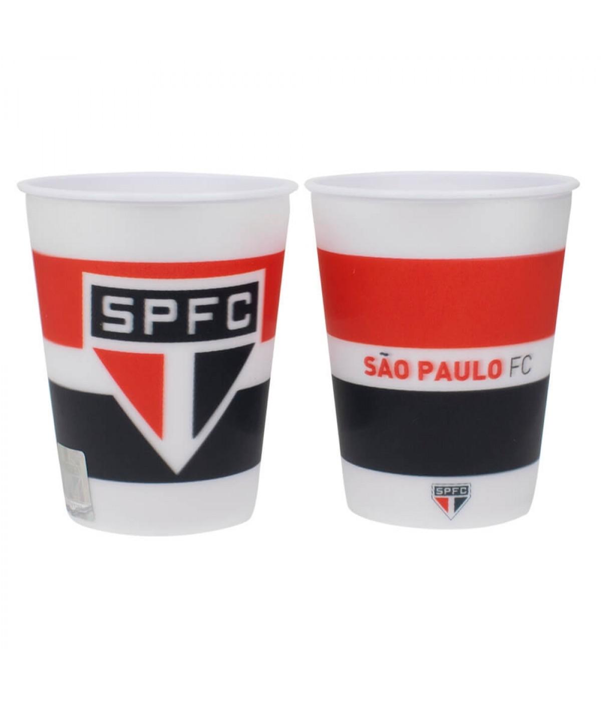 Jogo 2 Copos Plástico 3D 400ml - SPFC