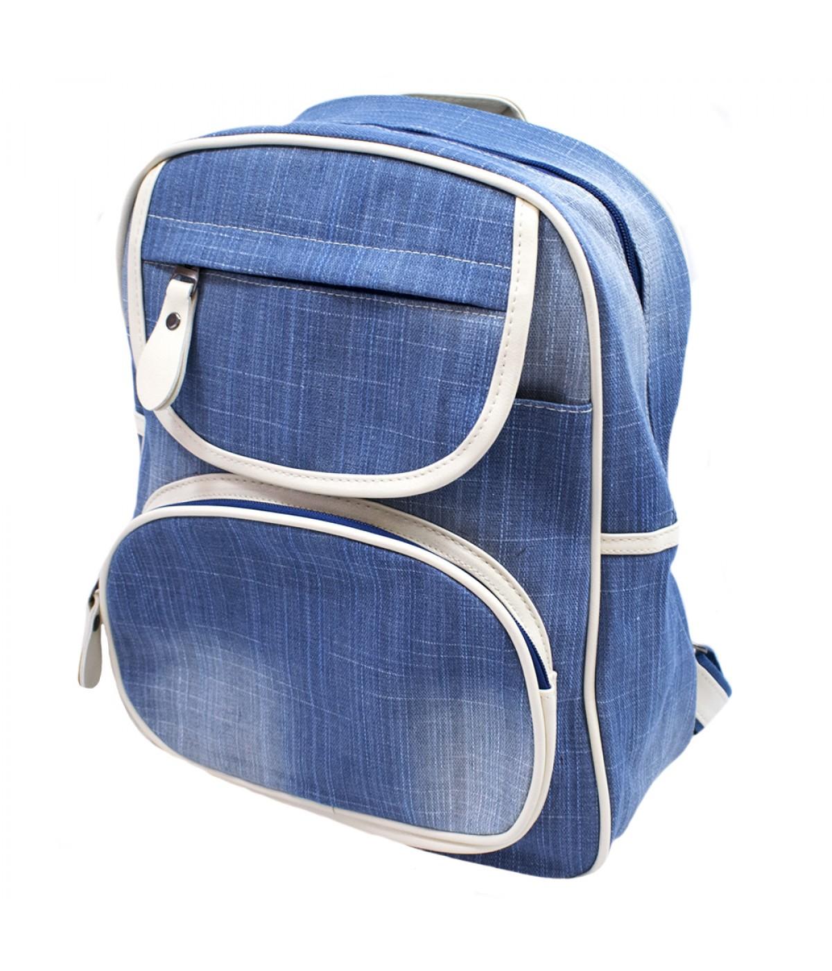 Mochila azul claro 39x13x35cm