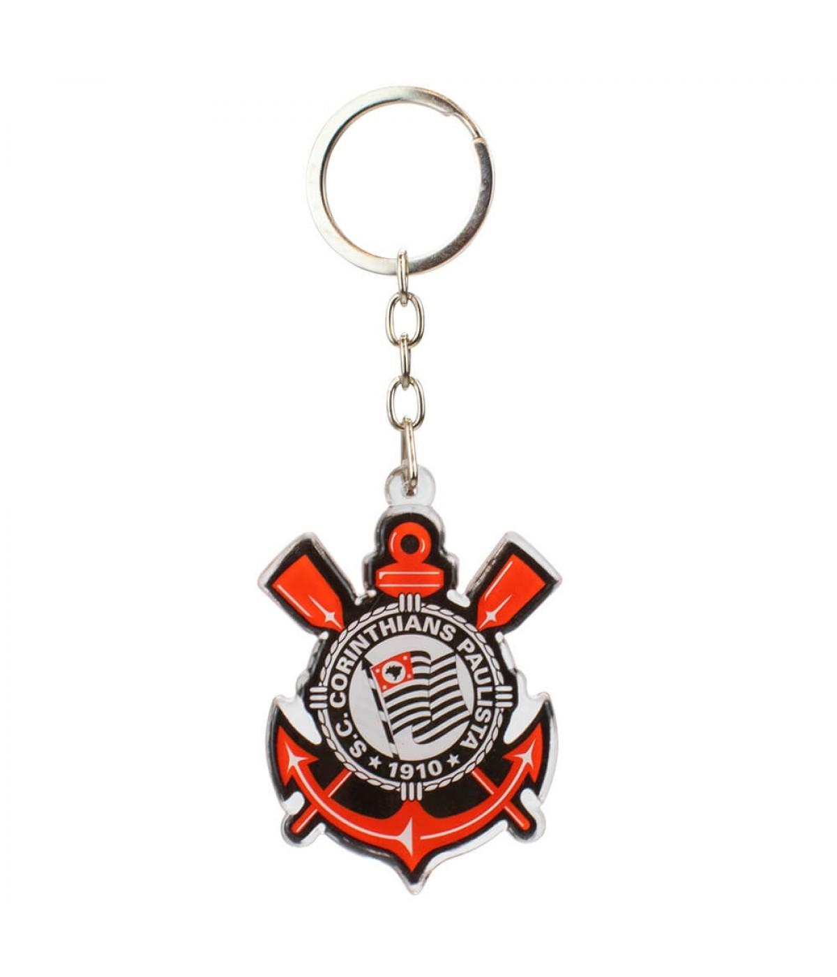 Chaveiro Escudo Time Acrílico 5cm - Corinthians