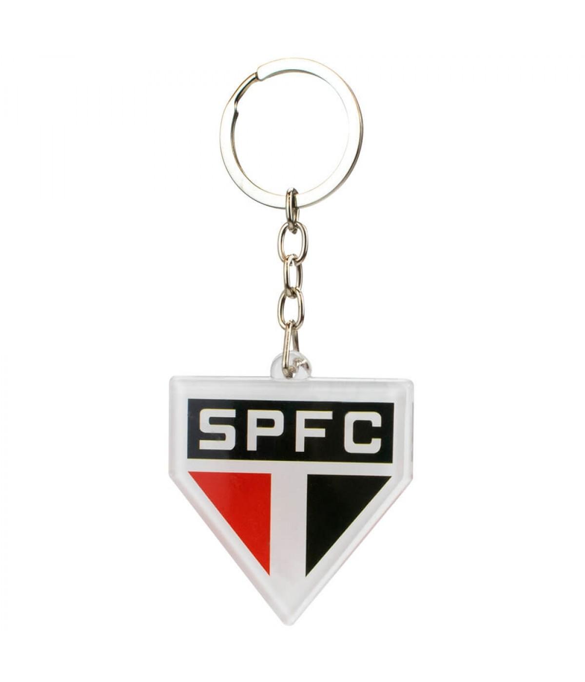Chaveiro Escudo Time Acrílico 5cm - SPFC