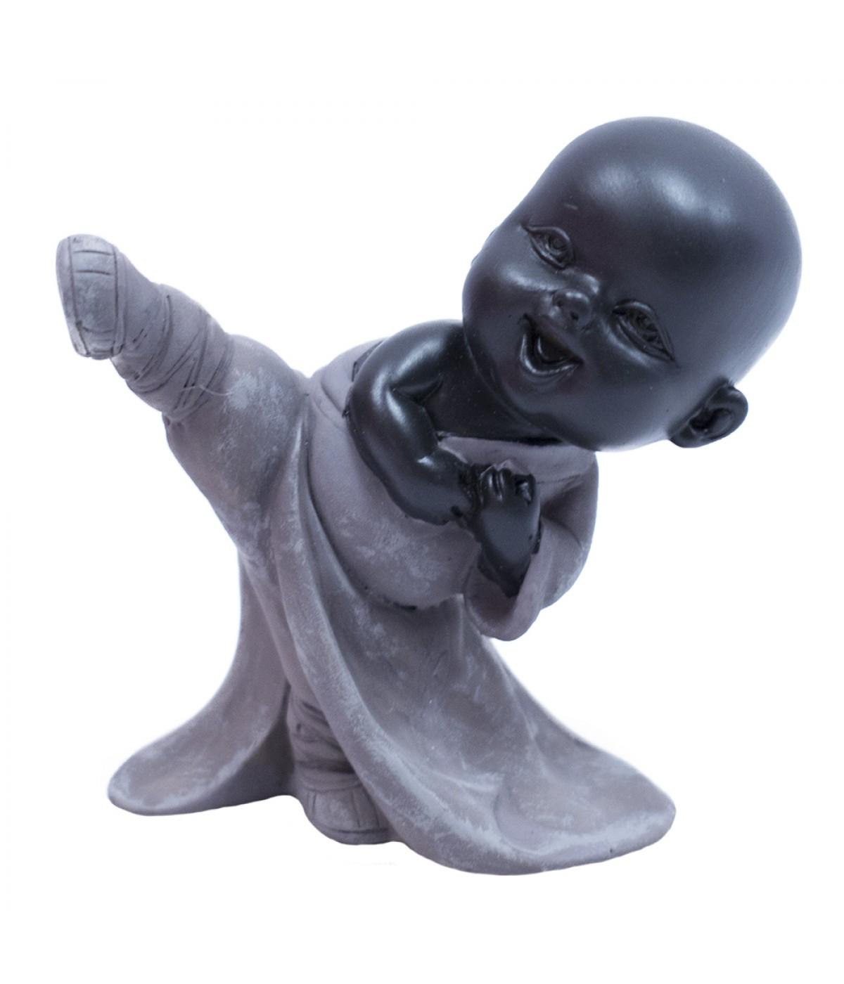 Monge Resina Preta Chute Kungfu 9cm