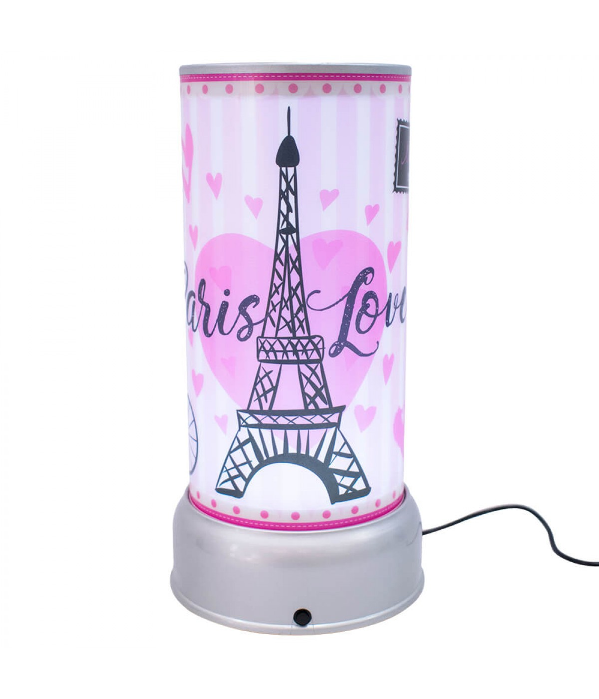Luminária Giratória  Paris Love- Projeto Kiwi