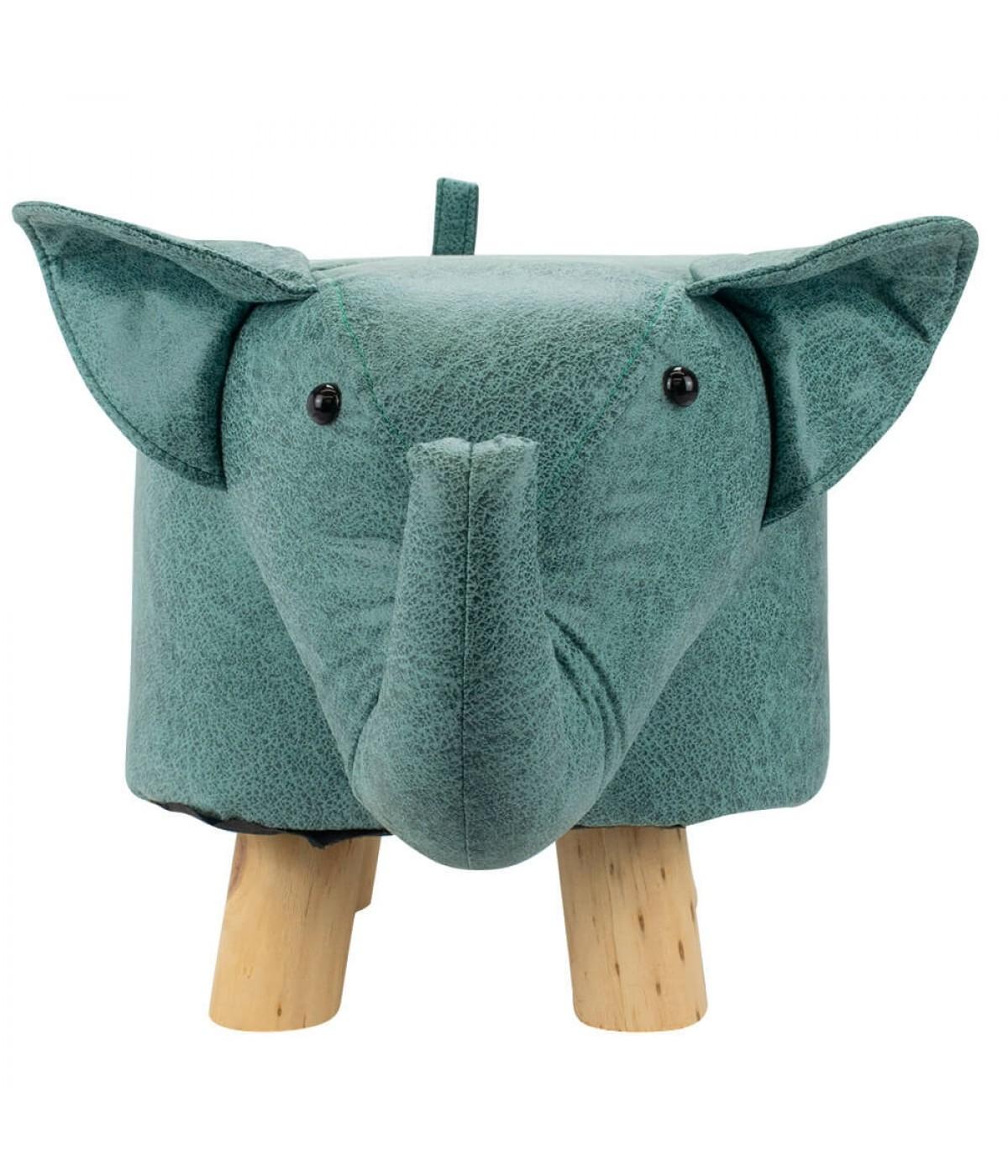 Banquinho Quadripé Elefante 30x50x25cm