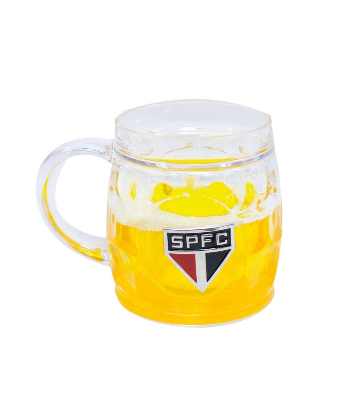 Caneca Cerveja Base Grossa 400ml - SPFC ... 222d56a1c56c6