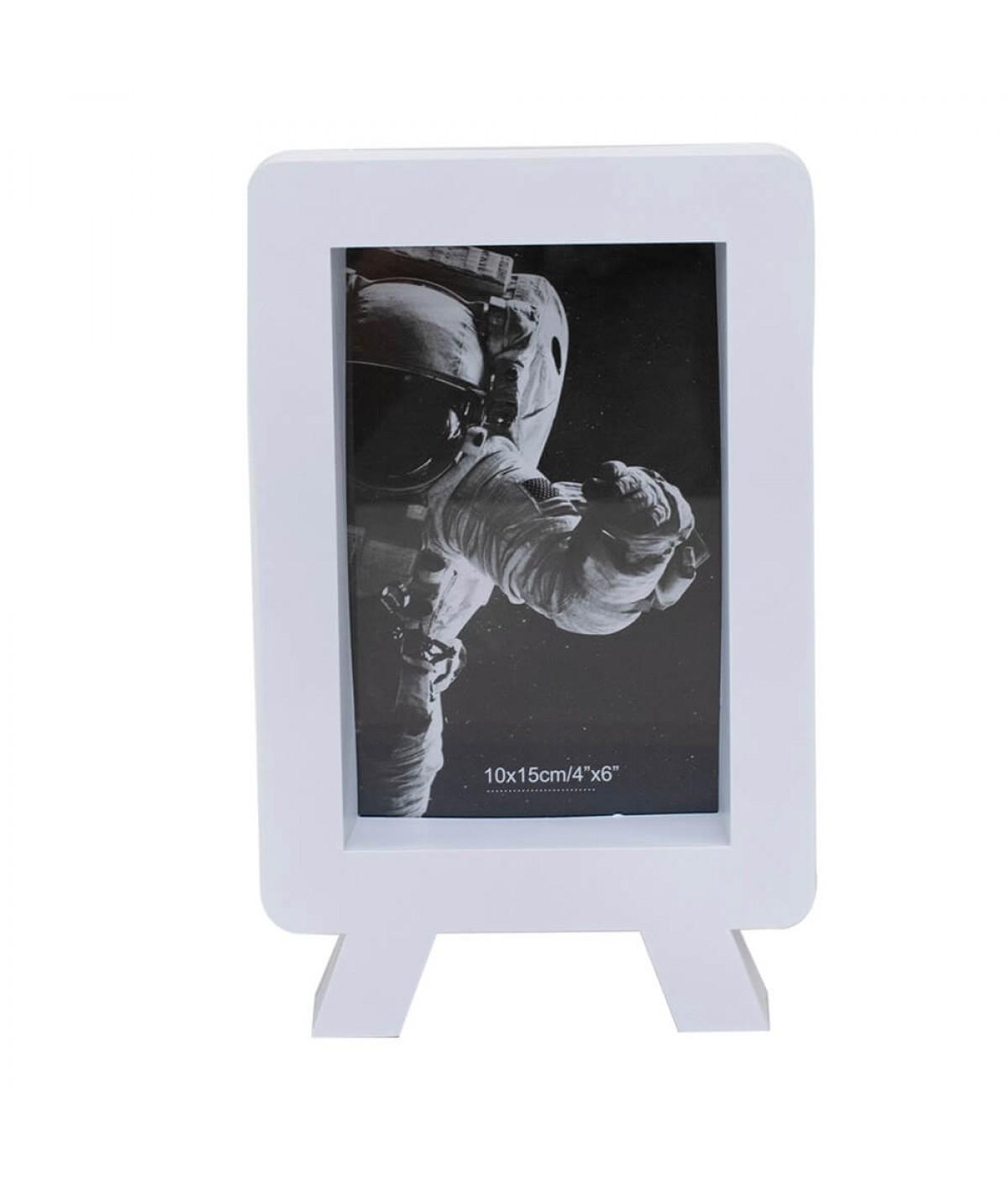 Porta Retrato Branco 1 Foto 10x15cm