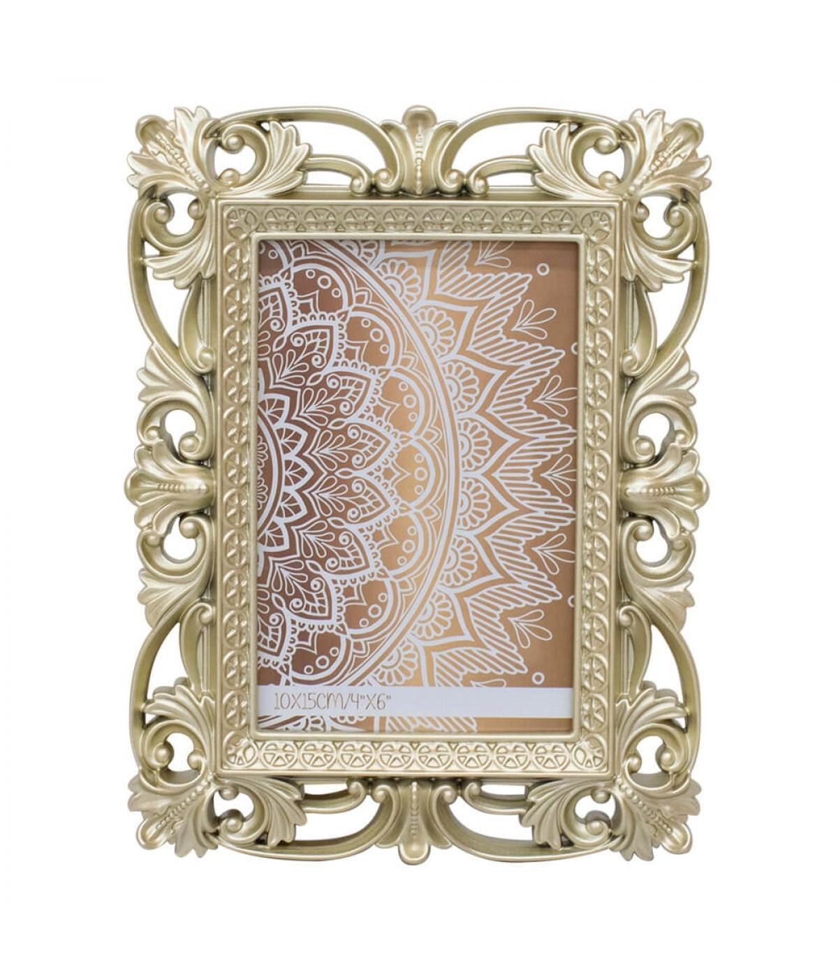 Porta Retrato Dourado 1 foto 10x15cm