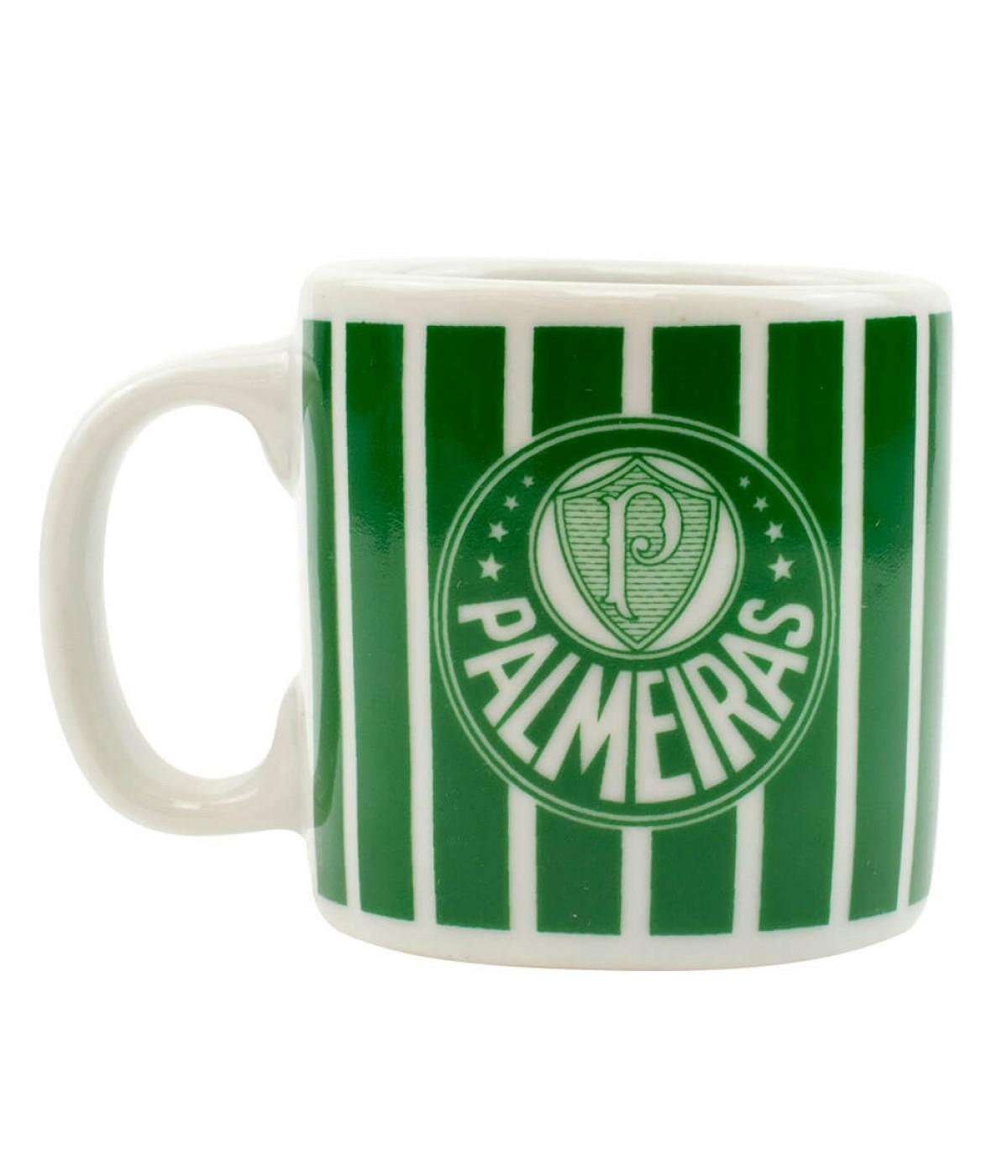 Caneca Porcelana 120ml - Palmeiras