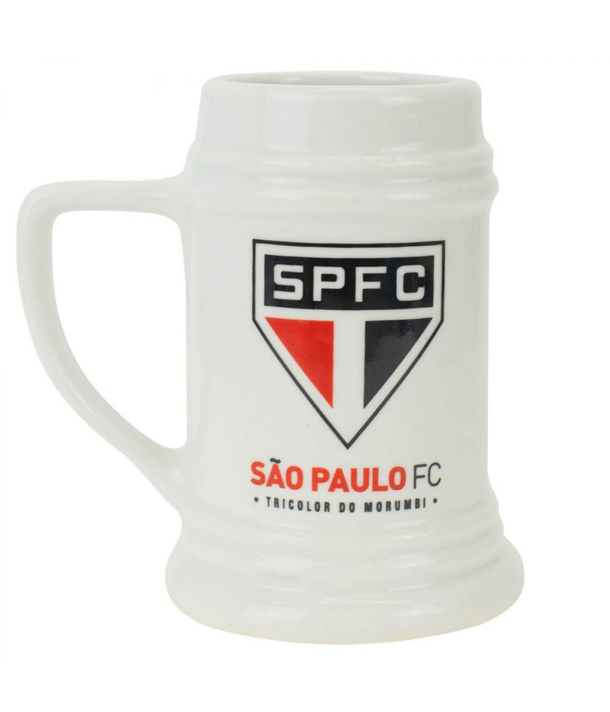 Caneca Porcelana Branca 500ml - SPFC