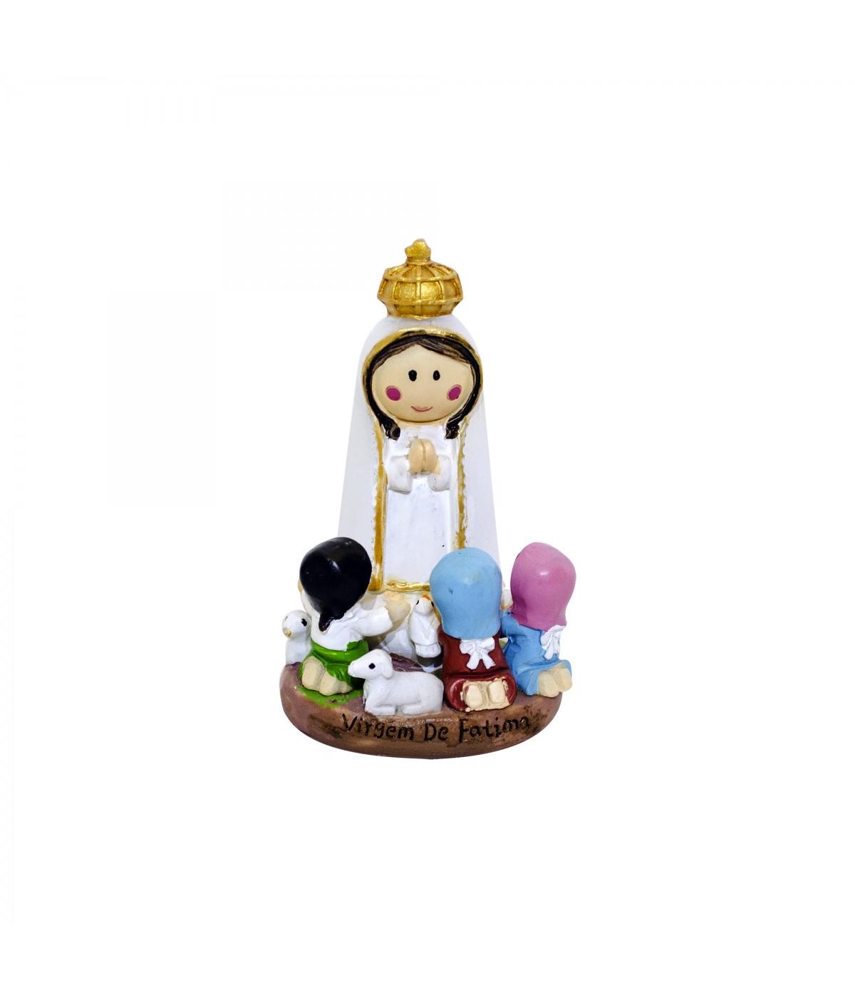 Nossa Senhora Fatima Imagem Resina Tx32526mm Minas De Presentes