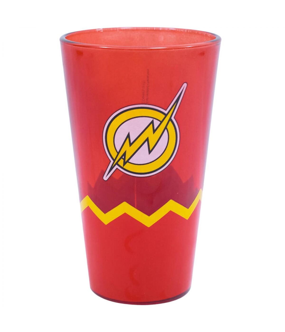 Copo Vidro Flash 450ml - Liga Da Justiça