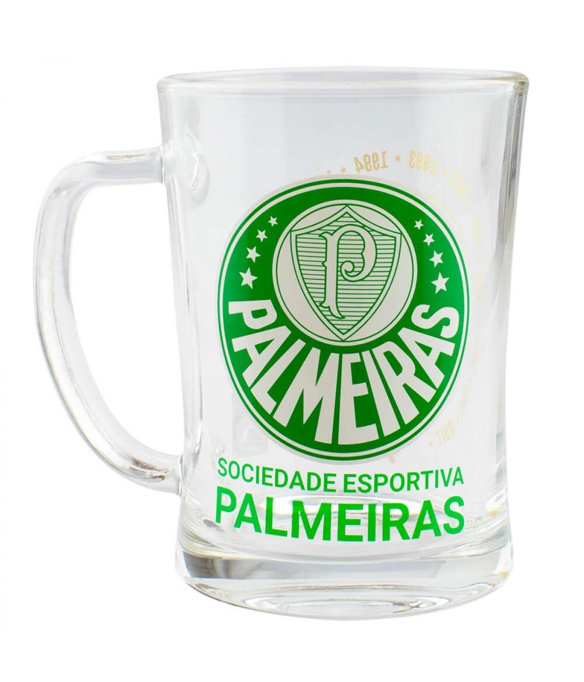 Caneca De Vidro Gigante 650ml - Palmeiras
