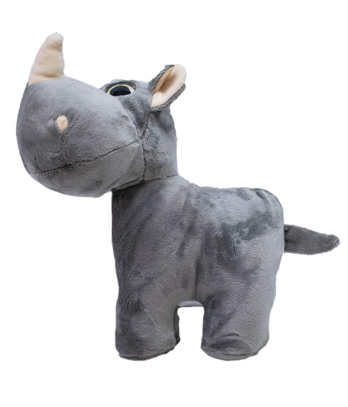 Rinoceronte Focinho Comprido 24cm - Pelúcia