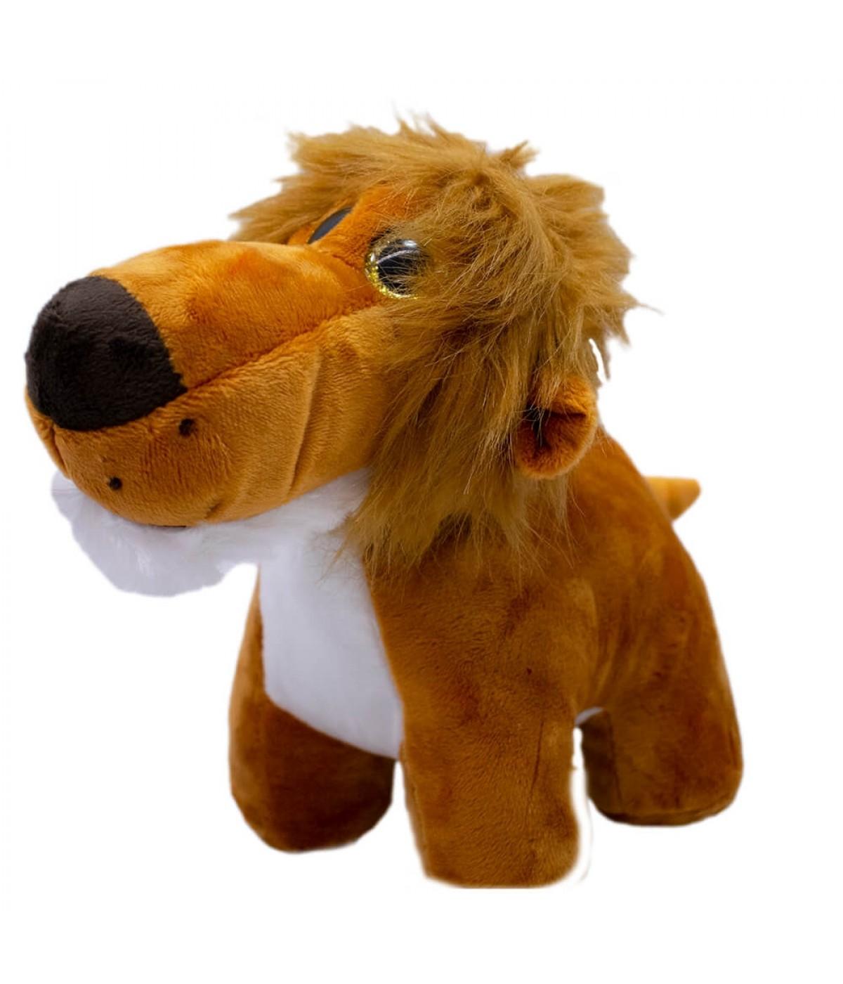 Leão Focinho Comprido 20cm - Pelúcia