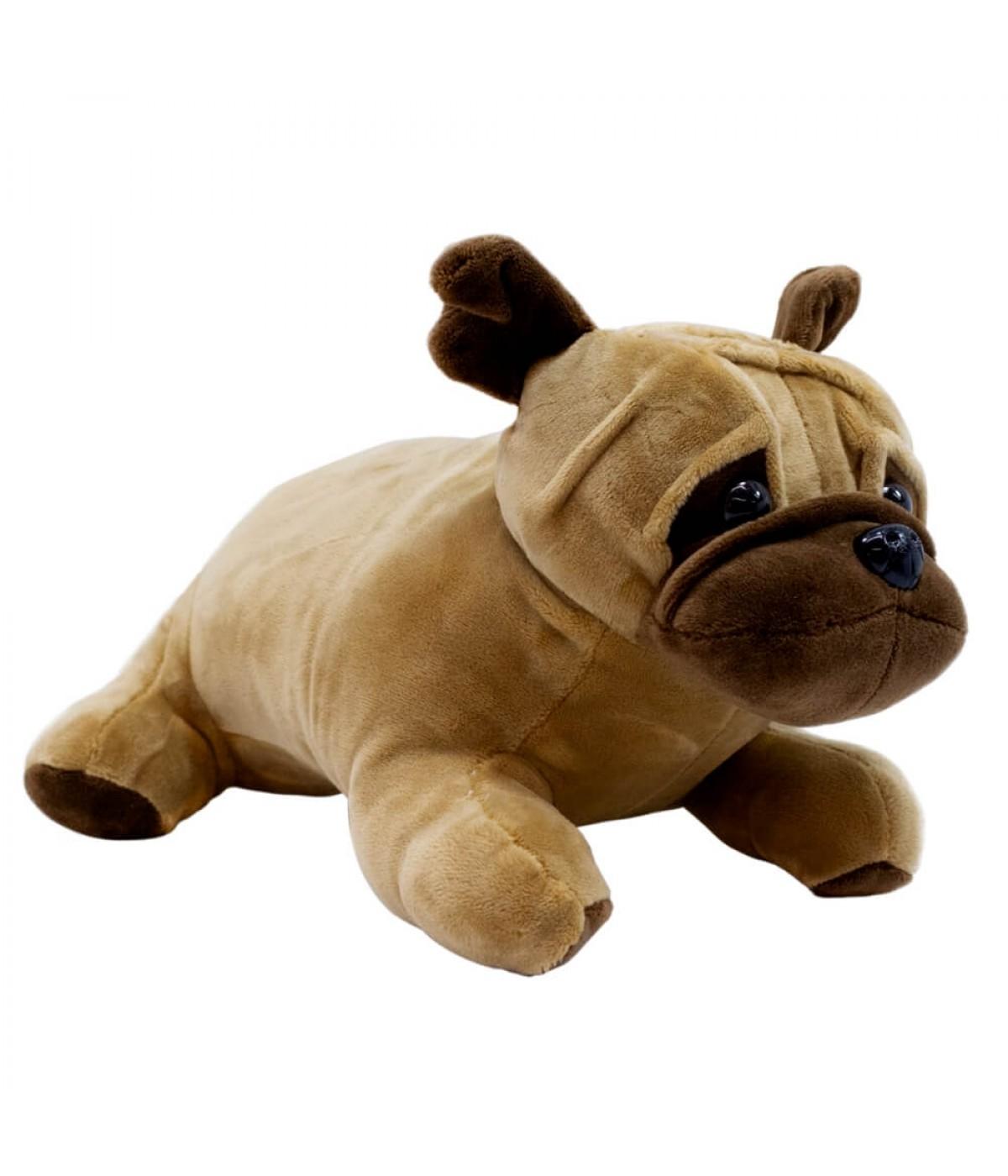 Cachorro Pug Marrom Deitado 27cm - Pelúcia