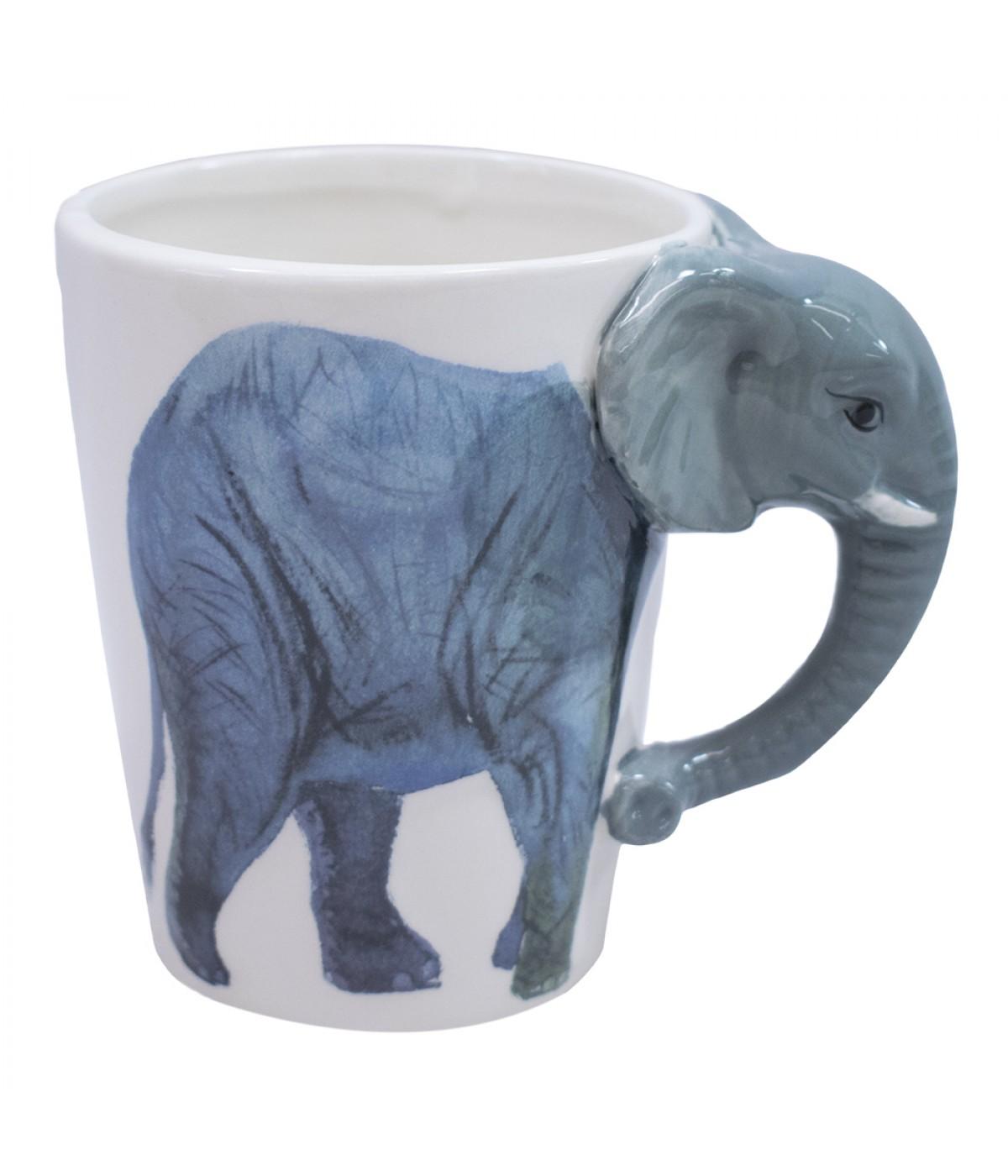 36f3f98e2 Caneca de porcelana alça elefante 320ml ...
