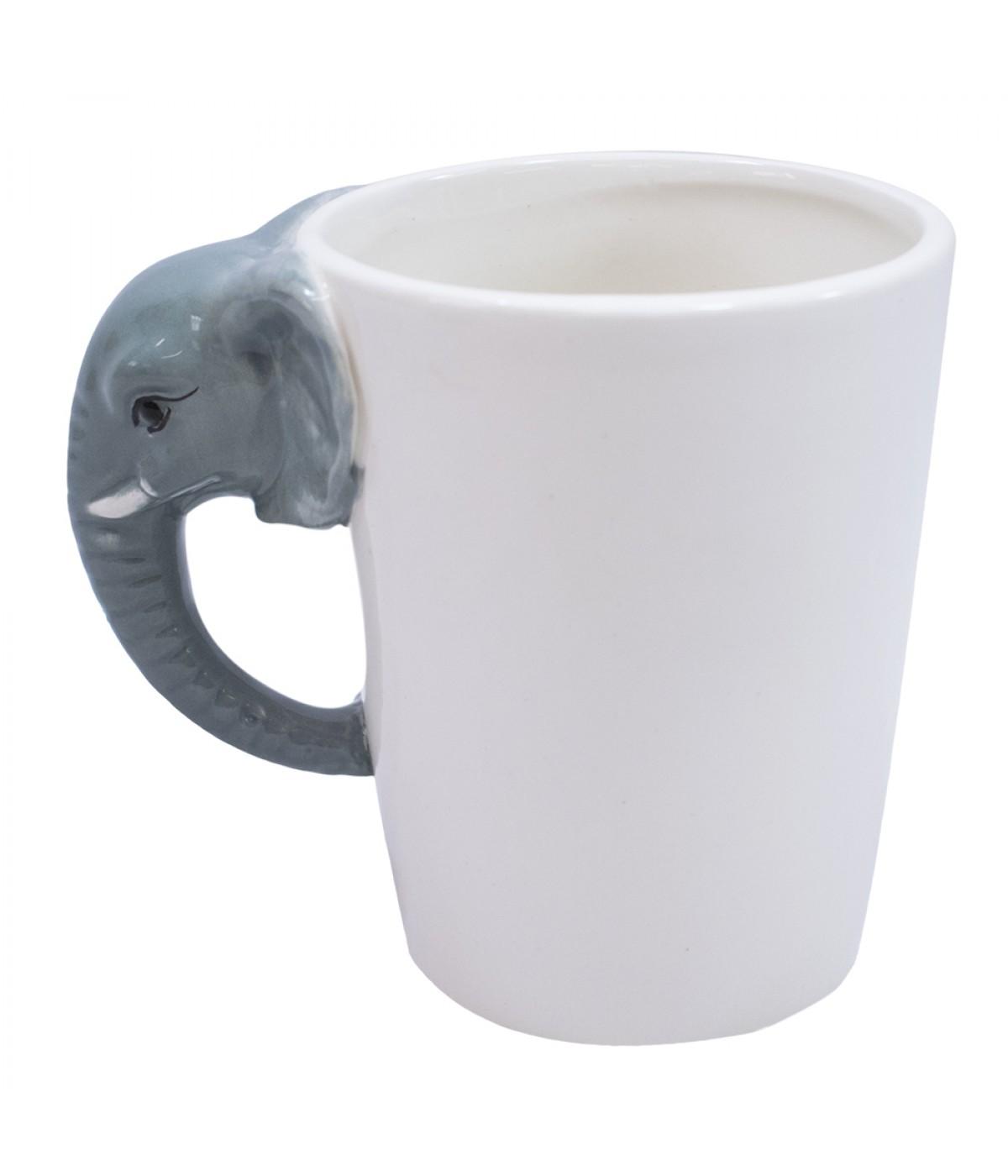 7ec0c8370 Caneca De Porcelana Alça Elefante 320ml