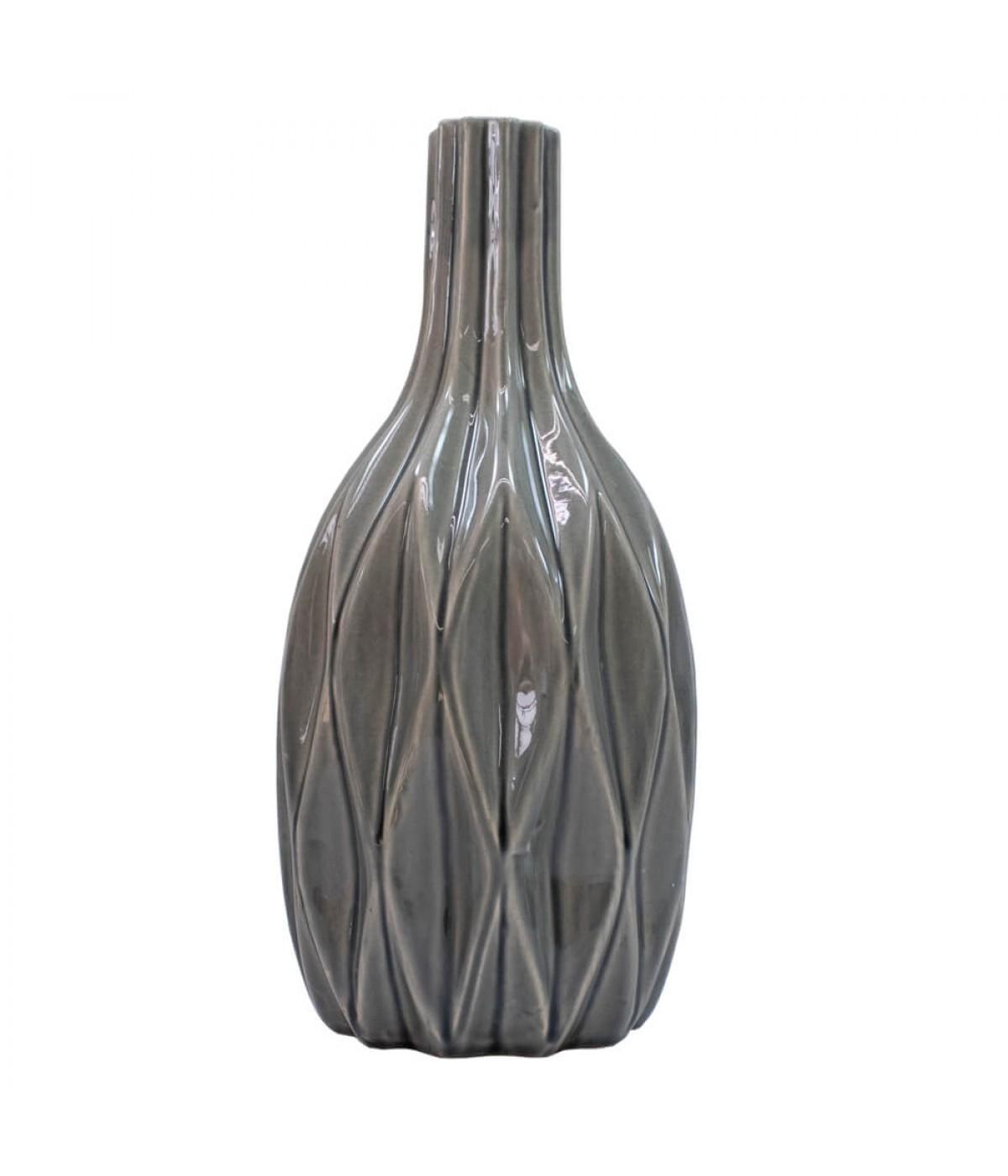 Vaso Porcelana Preto 28.5x14x14cm