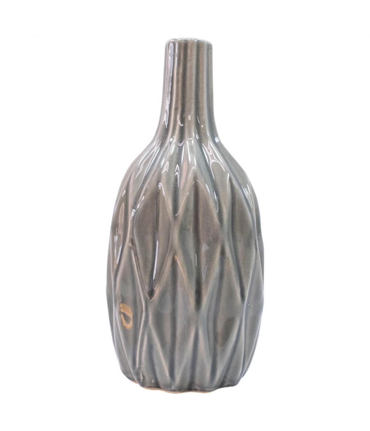 Vaso Porcelana Preto 22x10x10cm