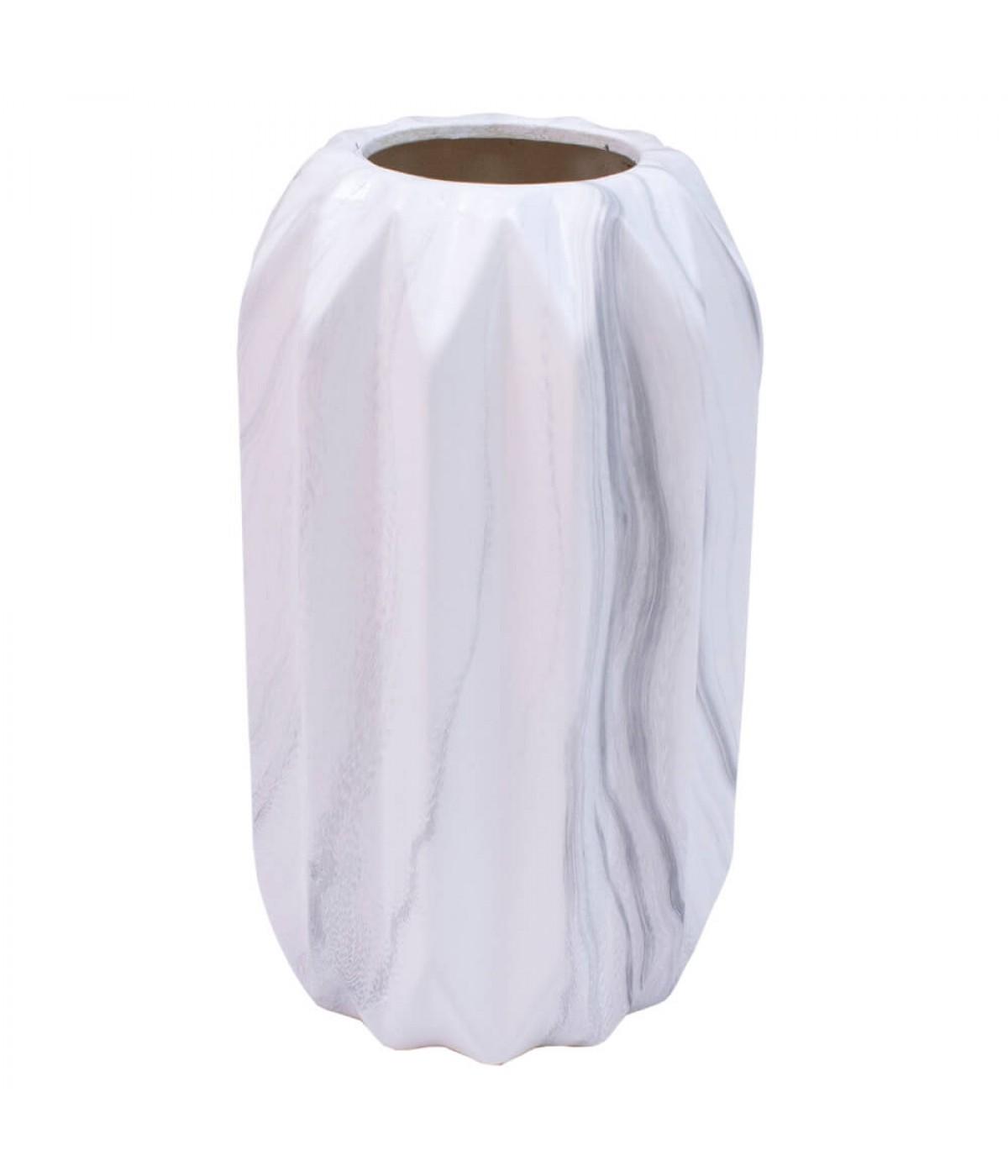 Vaso Porcelana Branca 20x11.5x11.5cm