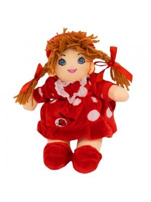 Boneca Vermelho Círculos Com Chapéu 28cm