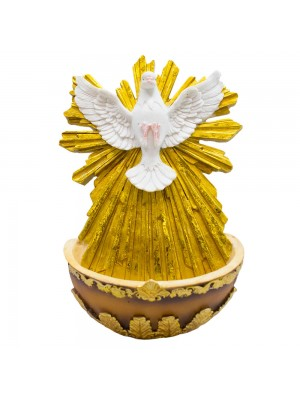 Espírito Santo Pia 19cm - Enfeite Resina
