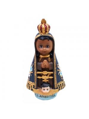 Nossa Senhora Aparecida 13cm Infantil - Enfeite Resina