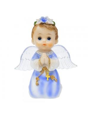 Anjinho Azul Oração 15cm - Enfeite Resina