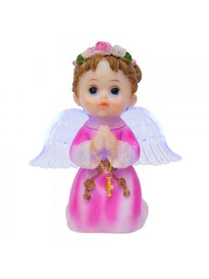 Anjinho Rosa Oração 15cm - Enfeite Resina